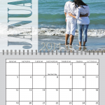 Transparent Spiral Calendar for 2014