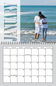 Transparent Months Spiral Calendar for 2013