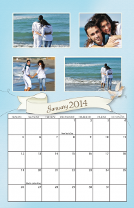 Banner Spiral Calendar for 2014